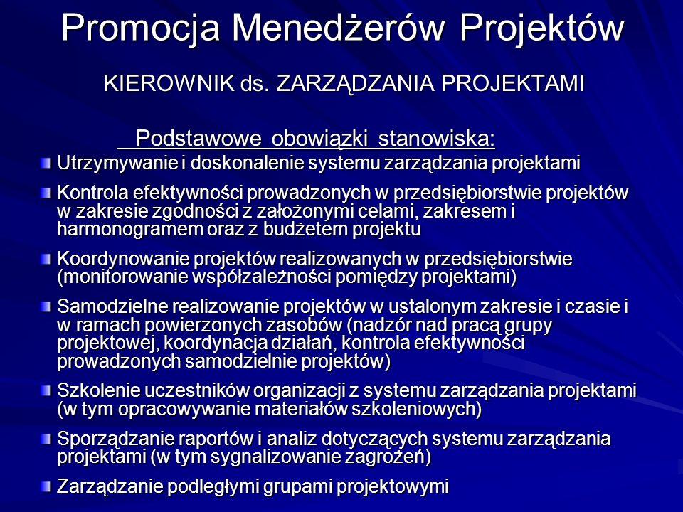 Promocja Menedżerów Projektów