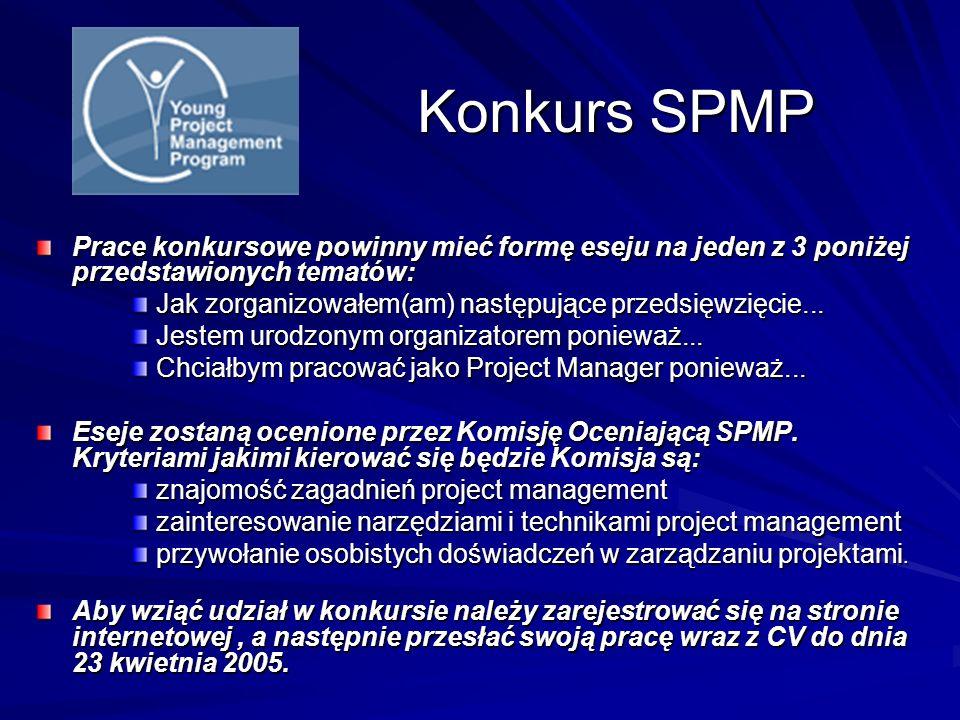 Konkurs SPMP Prace konkursowe powinny mieć formę eseju na jeden z 3 poniżej przedstawionych tematów: