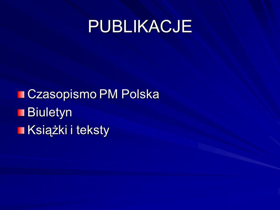 PUBLIKACJE Czasopismo PM Polska Biuletyn Książki i teksty
