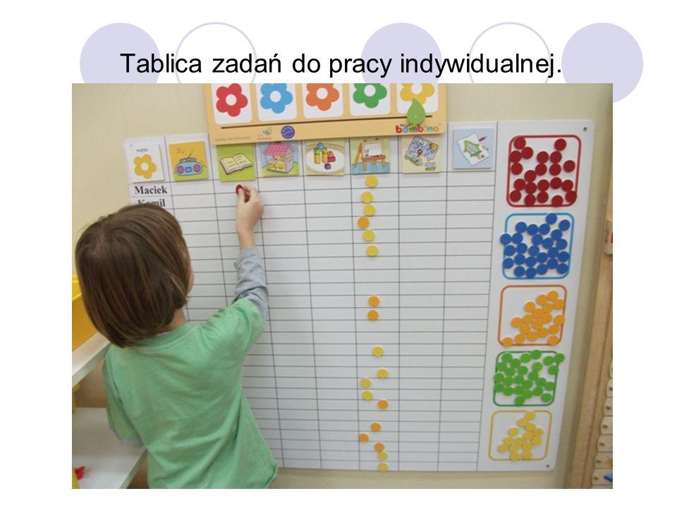 Tablica zadań do pracy indywidualnej.