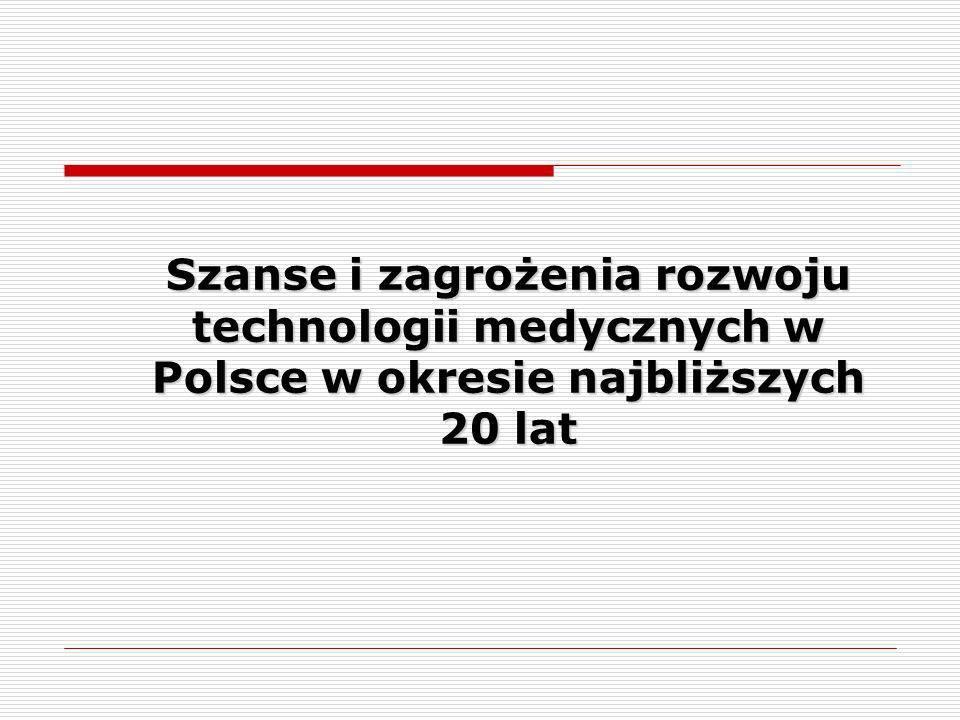 Szanse i zagrożenia rozwoju technologii medycznych w Polsce w okresie najbliższych 20 lat