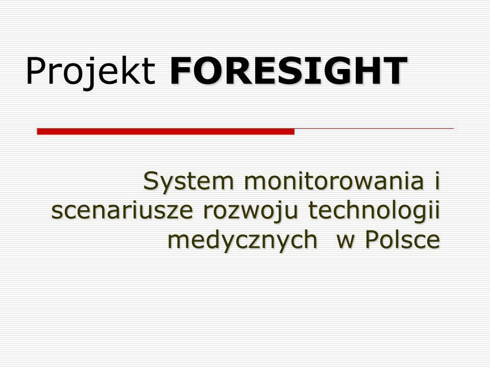 Projekt FORESIGHT System monitorowania i scenariusze rozwoju technologii medycznych w Polsce
