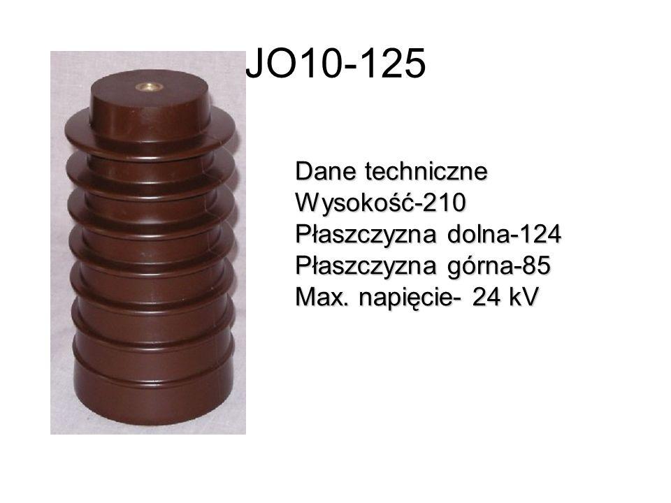 JO10-125 Dane techniczne Wysokość-210 Płaszczyzna dolna-124