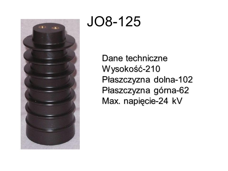 JO8-125 Dane techniczne Wysokość-210 Płaszczyzna dolna-102