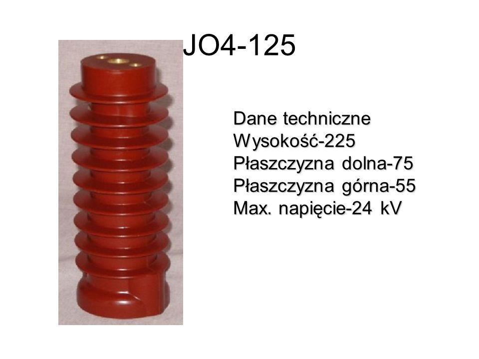 JO4-125 Dane techniczne Wysokość-225 Płaszczyzna dolna-75