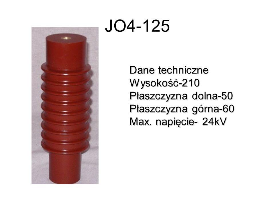 JO4-125 Dane techniczne Wysokość-210 Płaszczyzna dolna-50