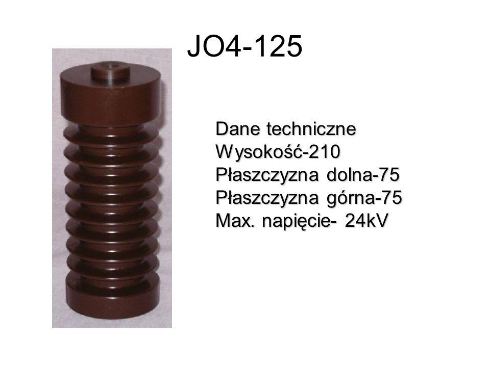 JO4-125 Dane techniczne Wysokość-210 Płaszczyzna dolna-75