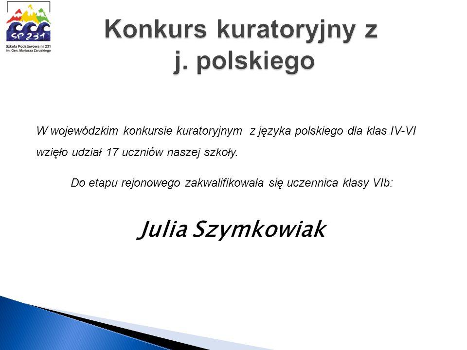 Konkurs kuratoryjny z j. polskiego
