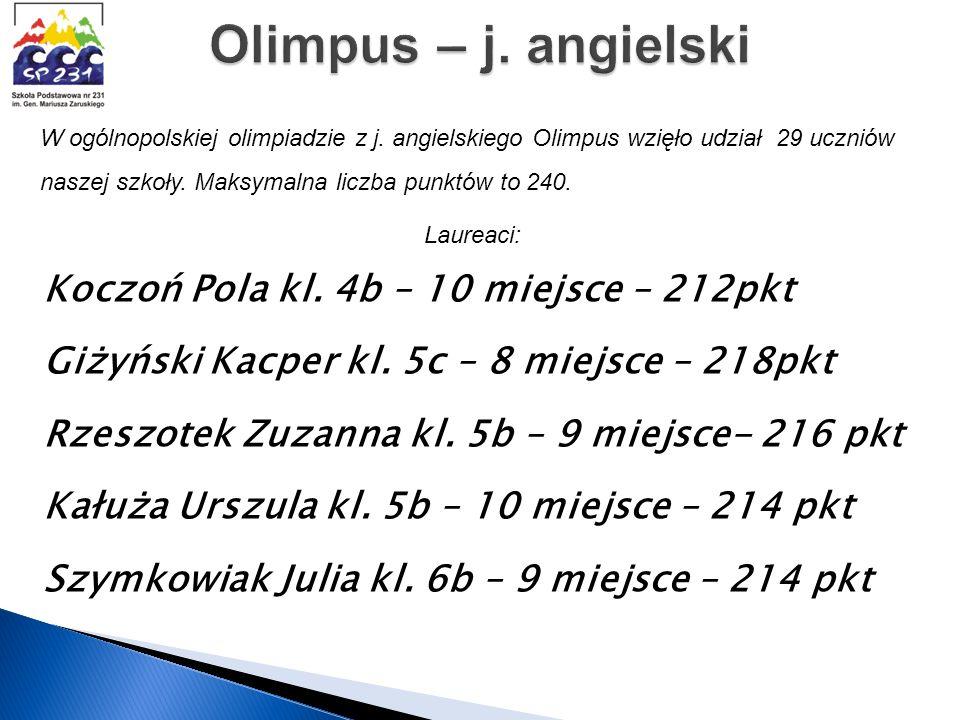 Olimpus – j. angielski