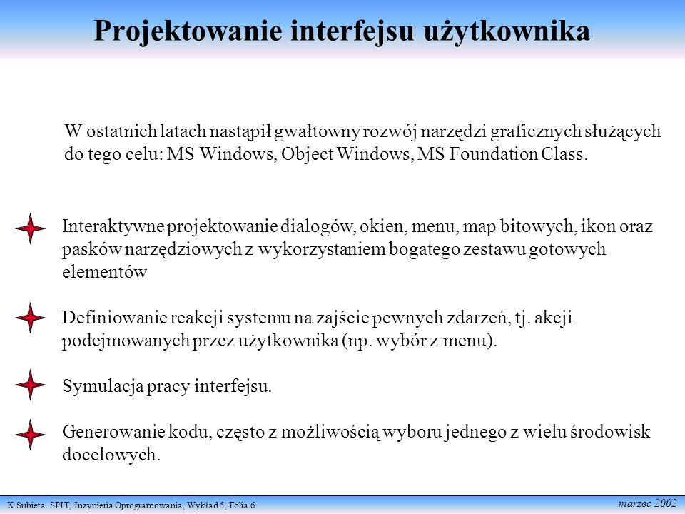 Projektowanie interfejsu użytkownika