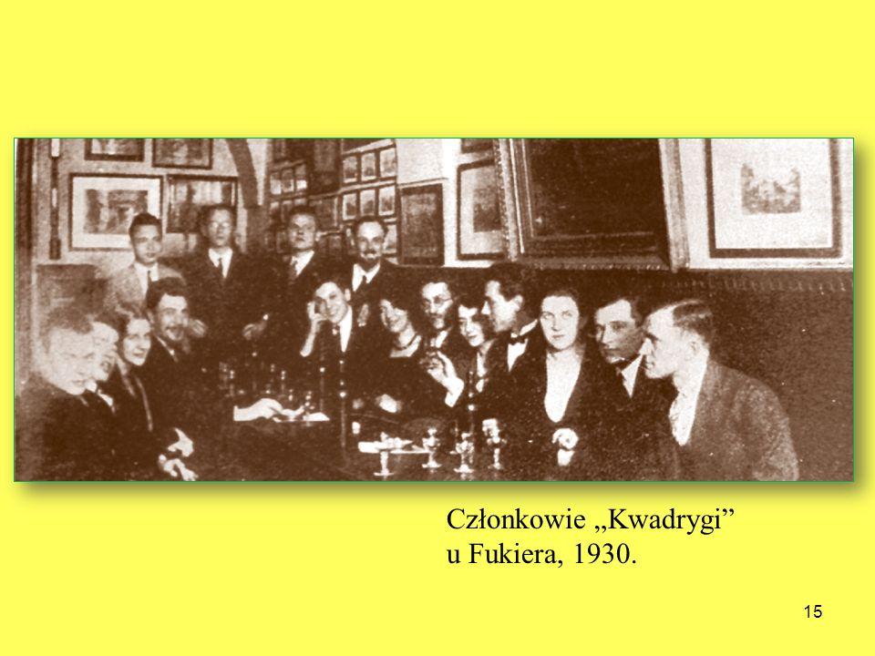 """Członkowie """"Kwadrygi u Fukiera, 1930."""