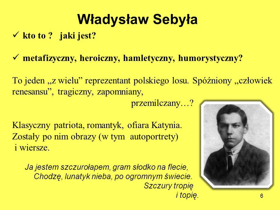 Władysław Sebyła kto to jaki jest