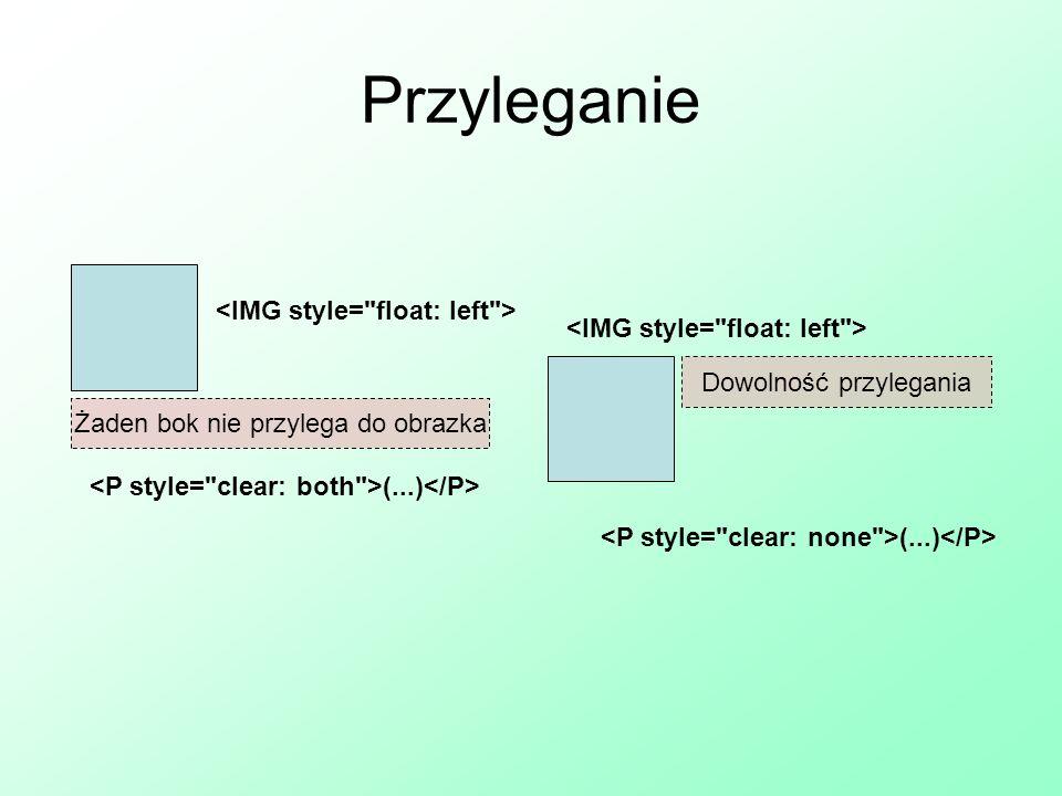 Przyleganie <IMG style= float: left >