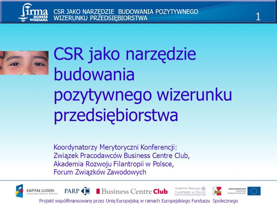 CSR jako narzędzie budowania pozytywnego wizerunku przedsiębiorstwa