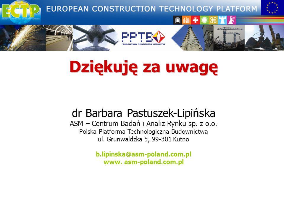 Dziękuję za uwagę dr Barbara Pastuszek-Lipińska