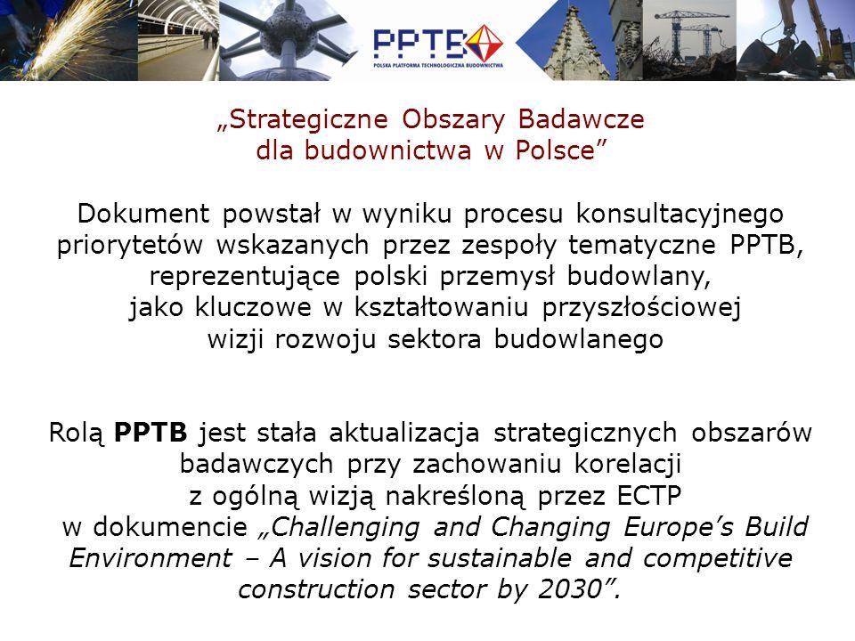 """""""Strategiczne Obszary Badawcze dla budownictwa w Polsce"""