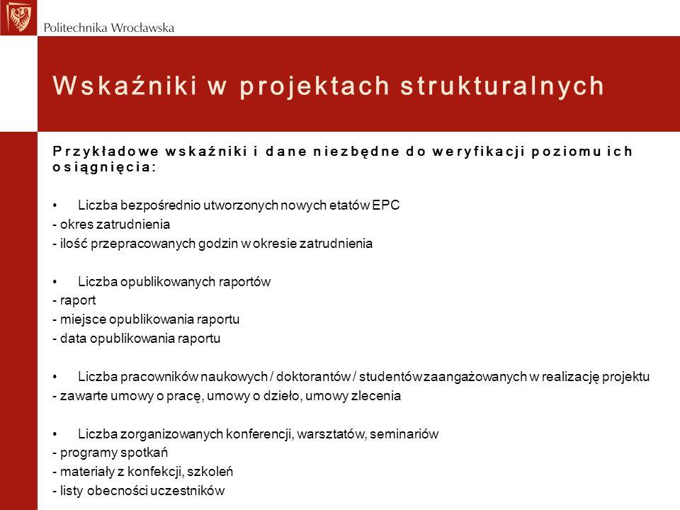 Wskaźniki w projektach strukturalnych