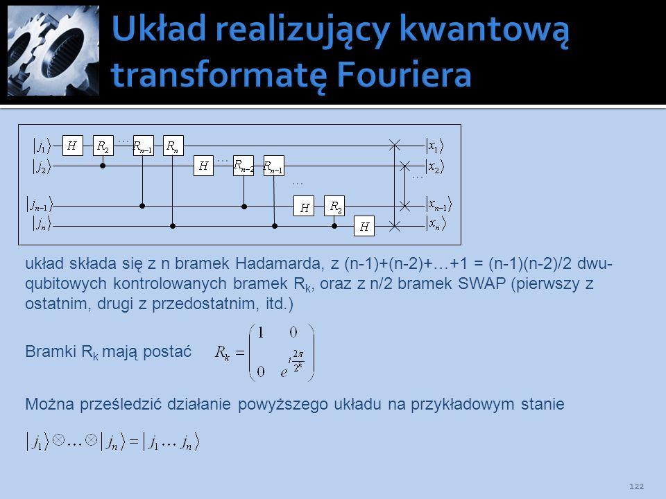 Układ realizujący kwantową transformatę Fouriera