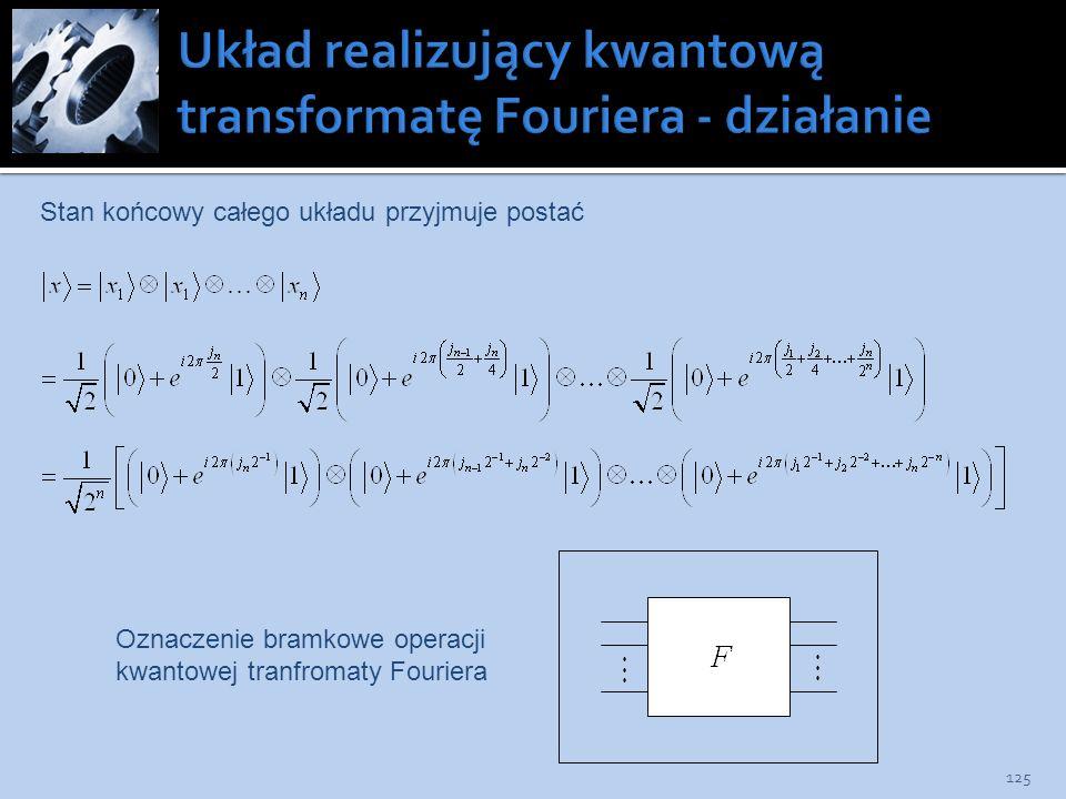 Układ realizujący kwantową transformatę Fouriera - działanie