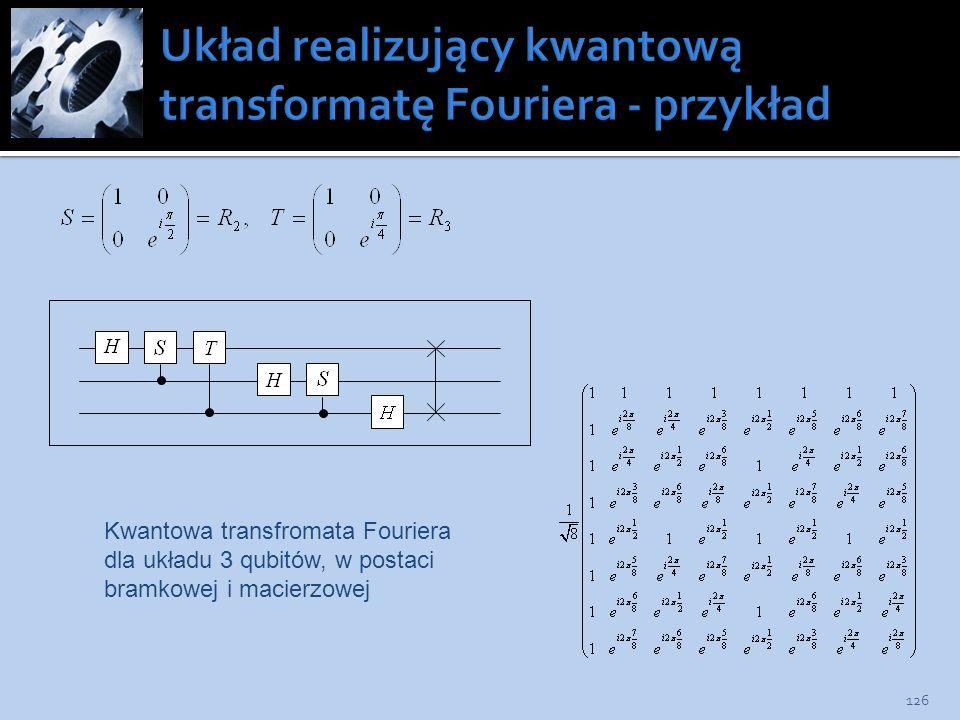 Układ realizujący kwantową transformatę Fouriera - przykład