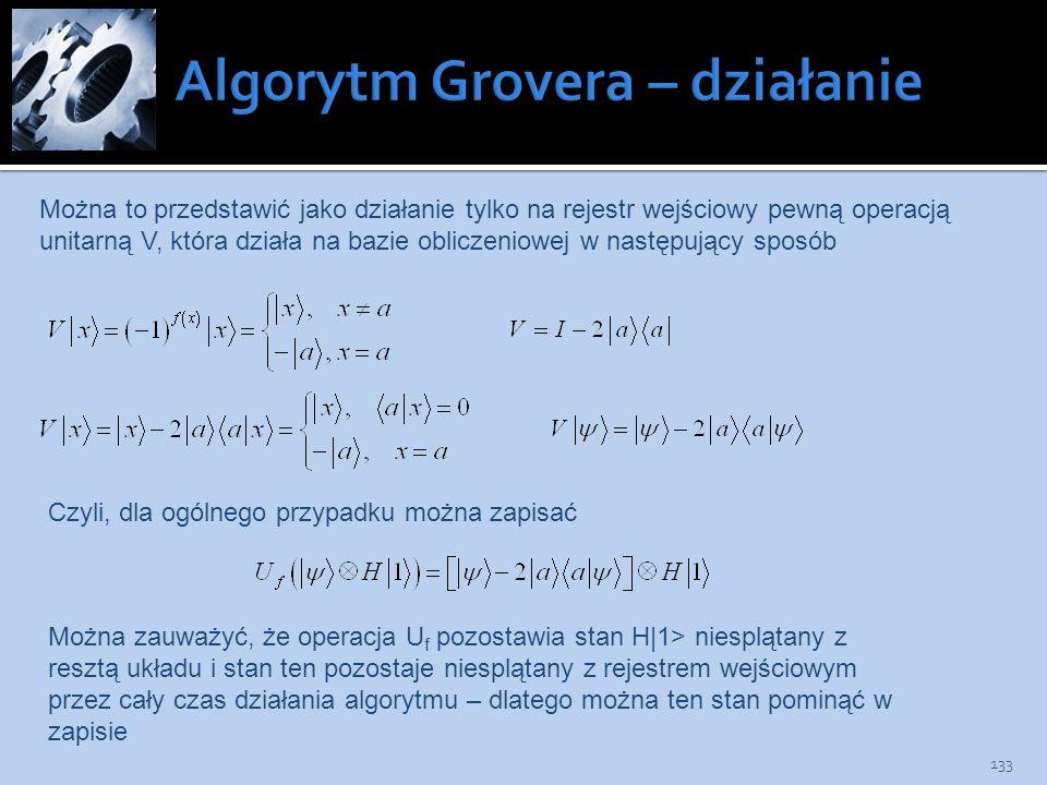 Algorytm Grovera – działanie
