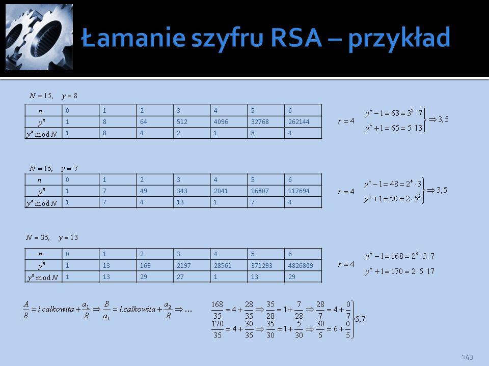 Łamanie szyfru RSA – przykład