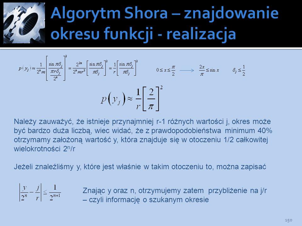 Algorytm Shora – znajdowanie okresu funkcji - realizacja
