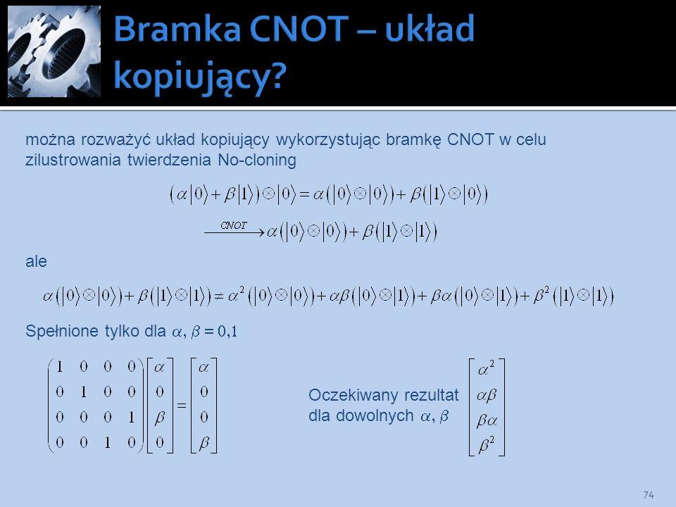 Bramka CNOT – układ kopiujący