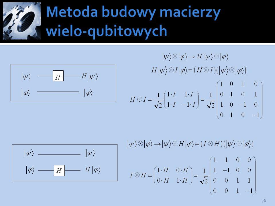Metoda budowy macierzy wielo-qubitowych