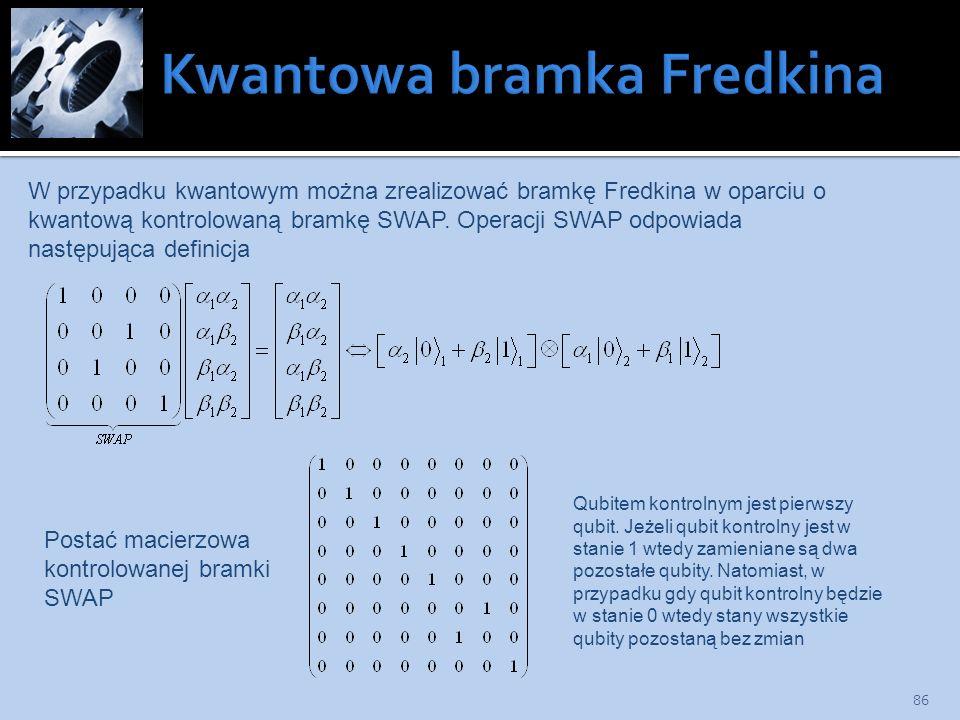 Kwantowa bramka Fredkina