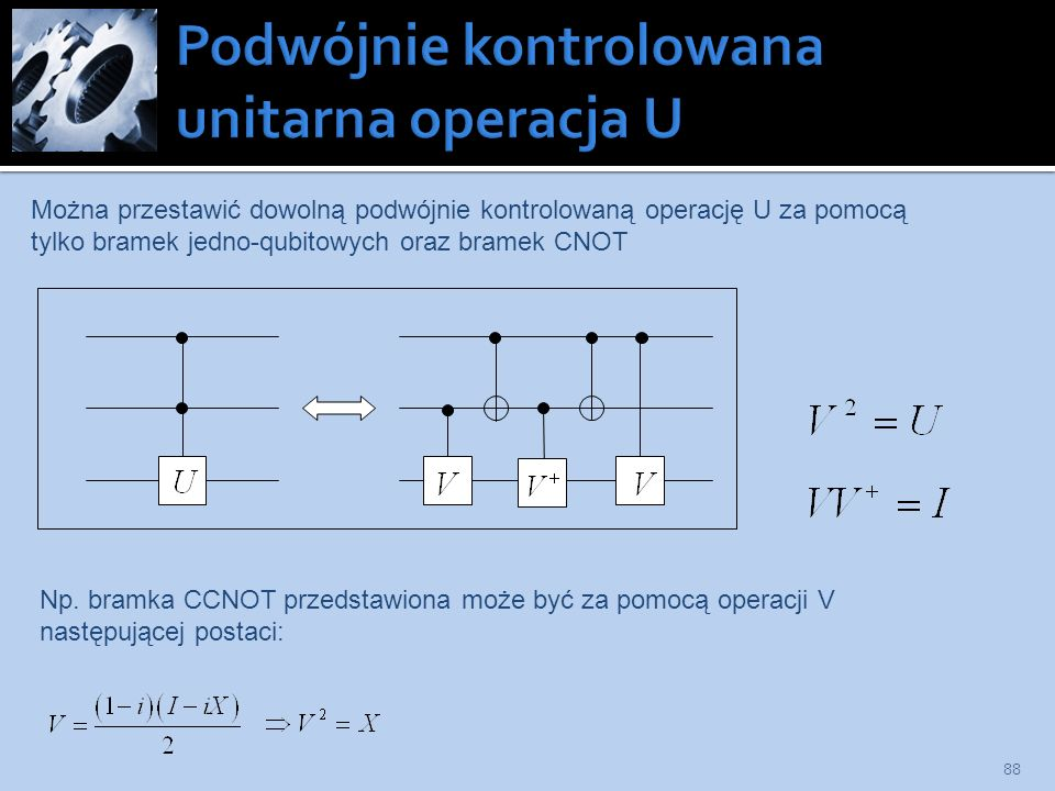 Podwójnie kontrolowana unitarna operacja U