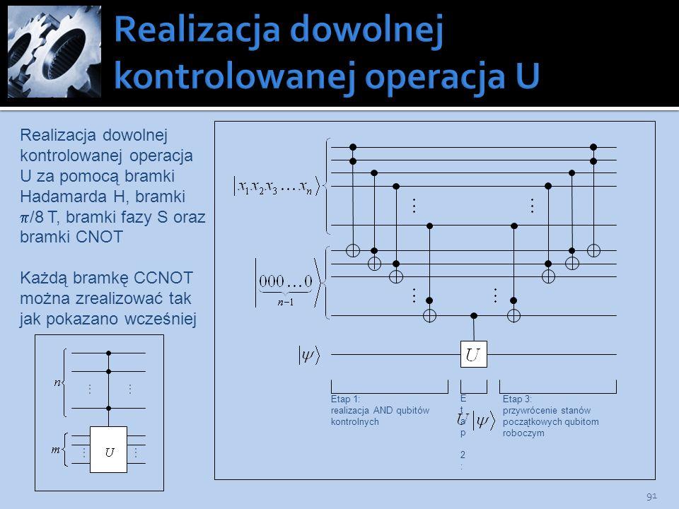 Realizacja dowolnej kontrolowanej operacja U