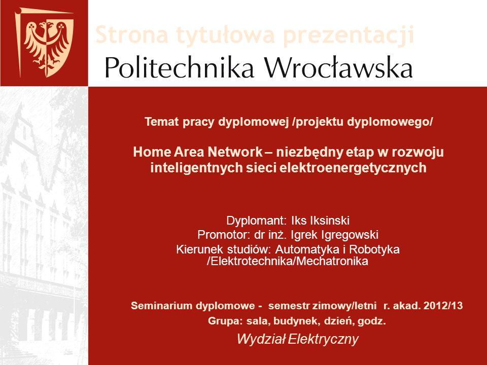 Strona tytułowa prezentacji