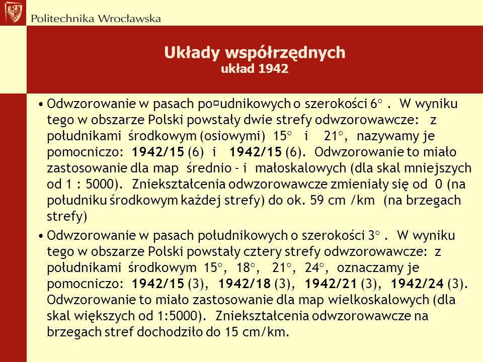 Układy współrzędnych układ 1942