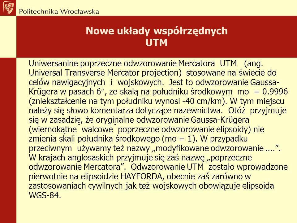 Nowe układy współrzędnych UTM