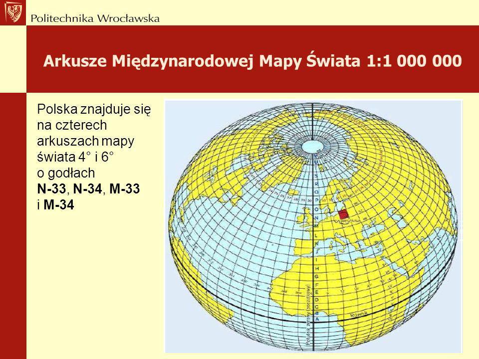 Arkusze Międzynarodowej Mapy Świata 1:1 000 000