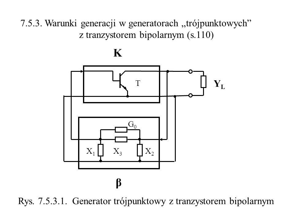 """K β 7.5.3. Warunki generacji w generatorach """"trójpunktowych"""