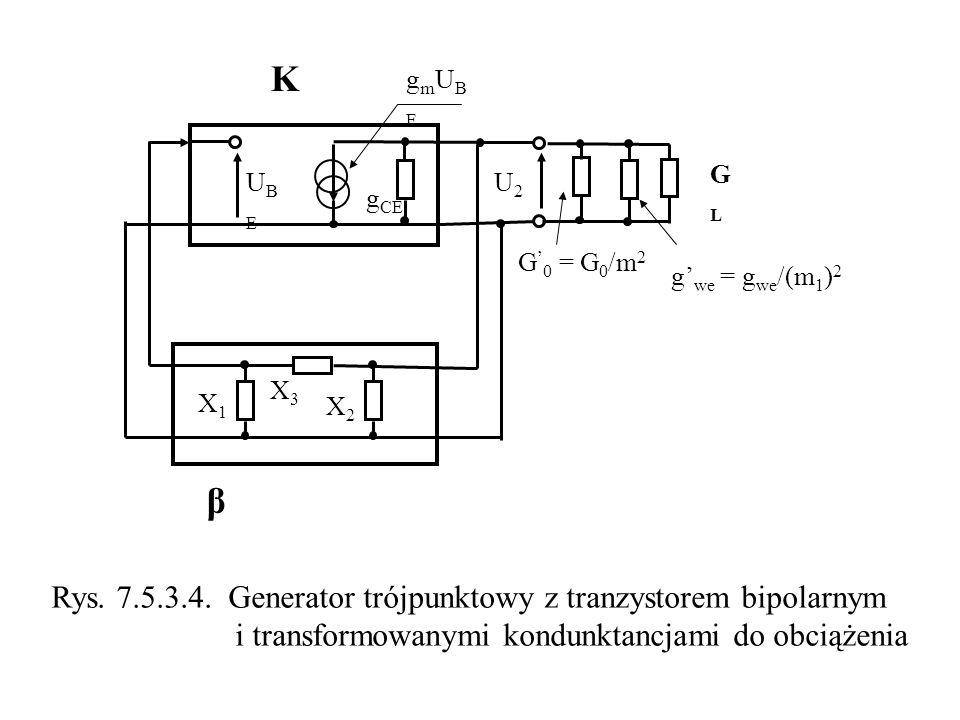 K β Rys. 7.5.3.4. Generator trójpunktowy z tranzystorem bipolarnym