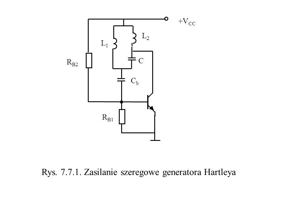 Rys. 7.7.1. Zasilanie szeregowe generatora Hartleya