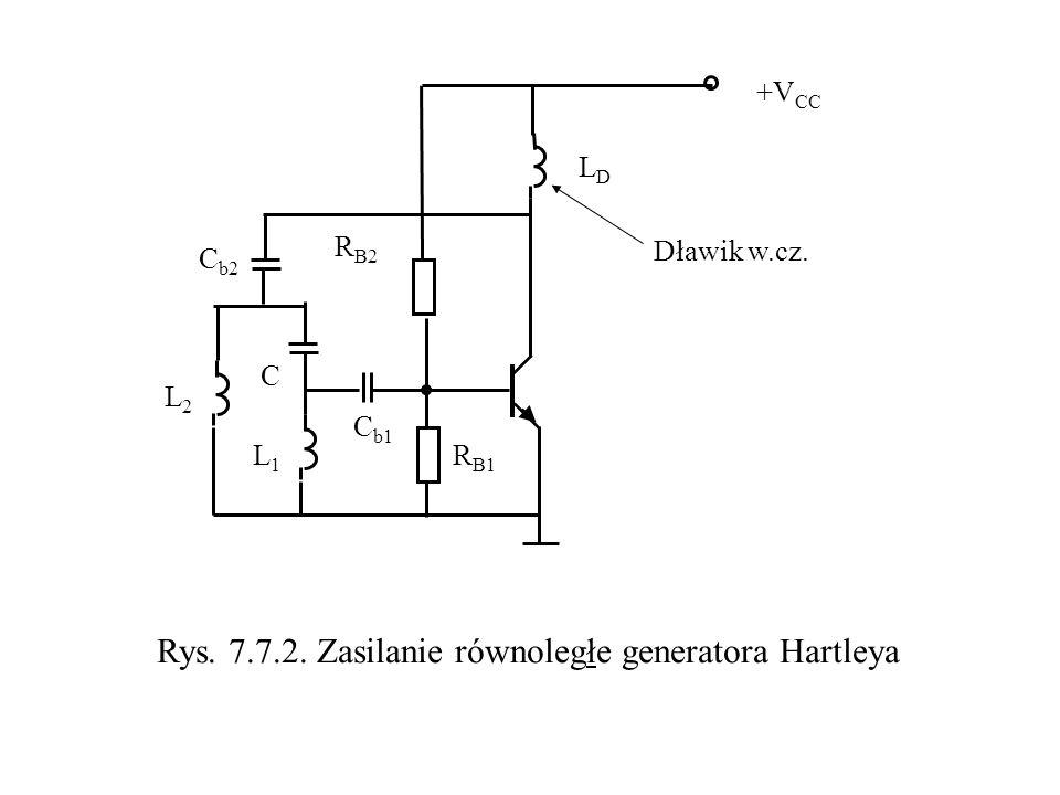 Rys. 7.7.2. Zasilanie równoległe generatora Hartleya
