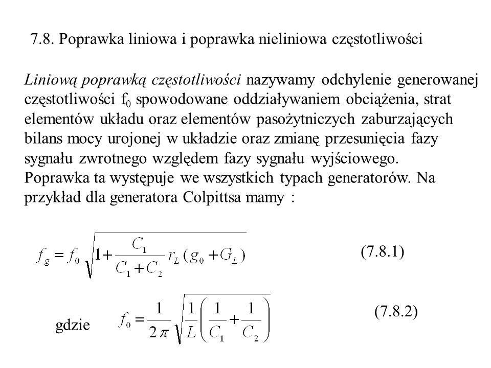 7.8. Poprawka liniowa i poprawka nieliniowa częstotliwości