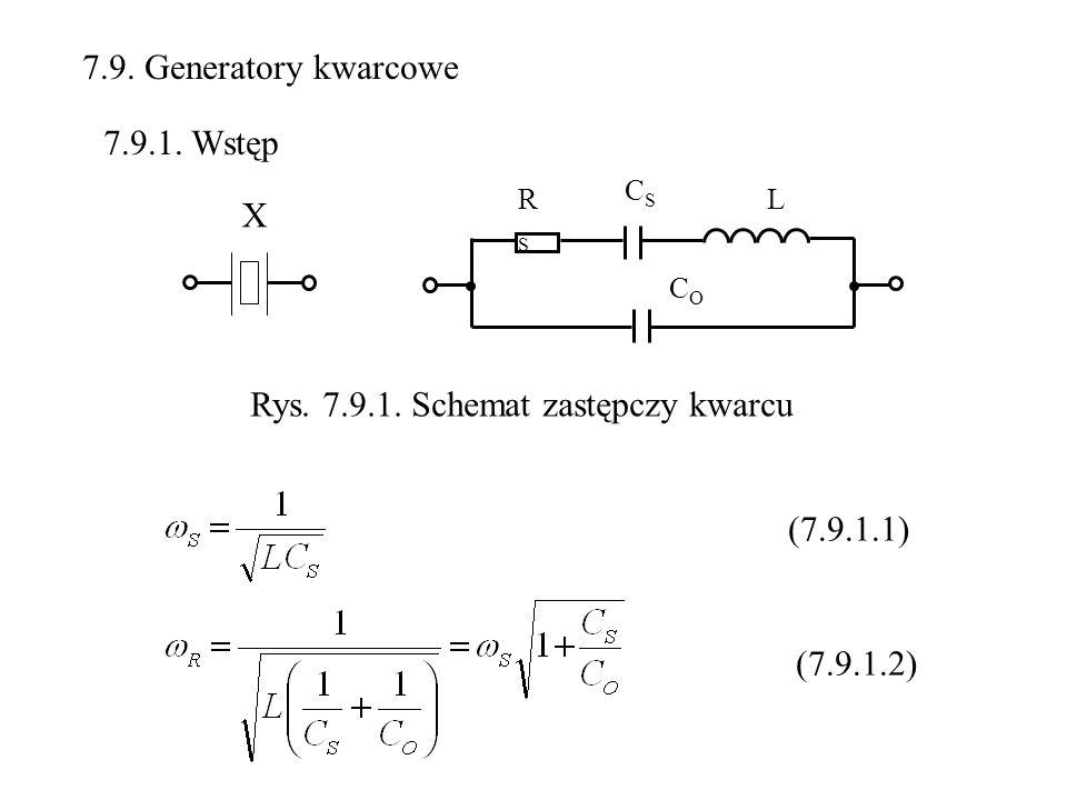 Rys. 7.9.1. Schemat zastępczy kwarcu