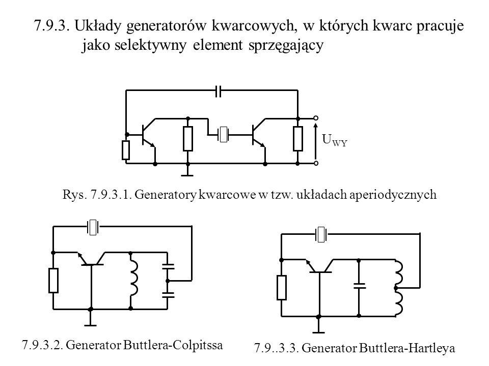 7.9.3. Układy generatorów kwarcowych, w których kwarc pracuje