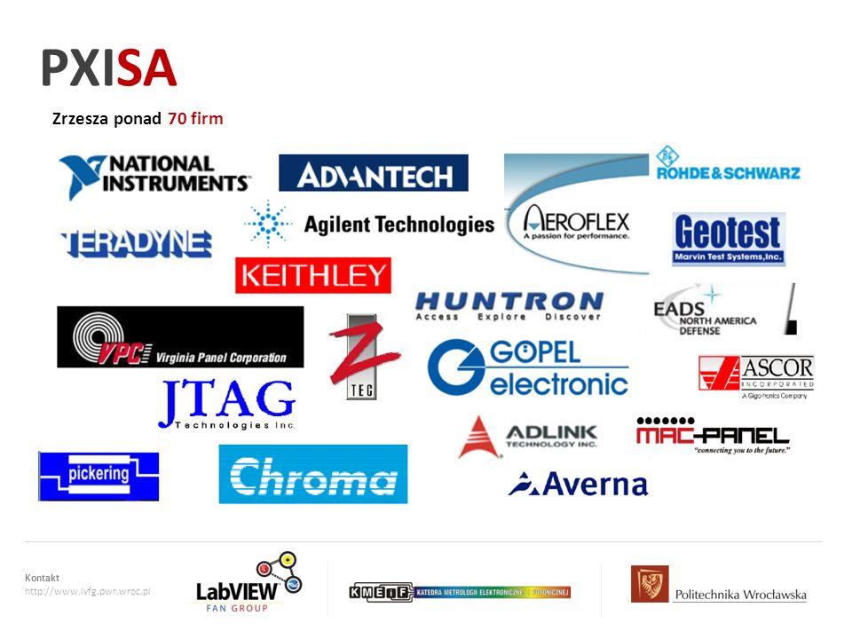 PXISA Zrzesza ponad 70 firm Kontakt http://www.lvfg.pwr.wroc.pl
