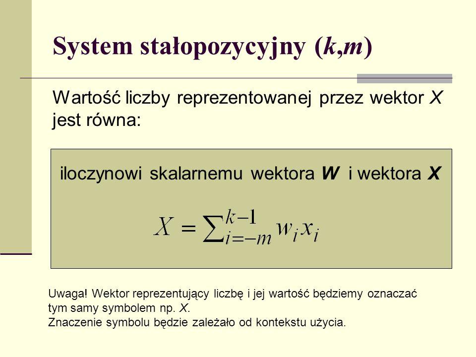 System stałopozycyjny (k,m)