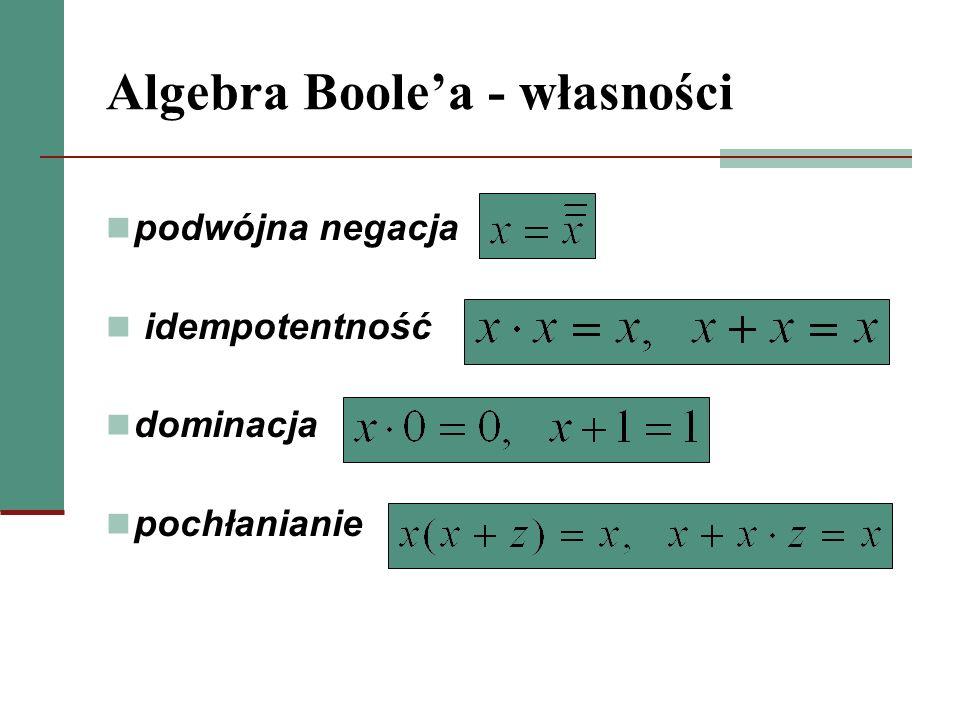 Algebra Boole'a - własności