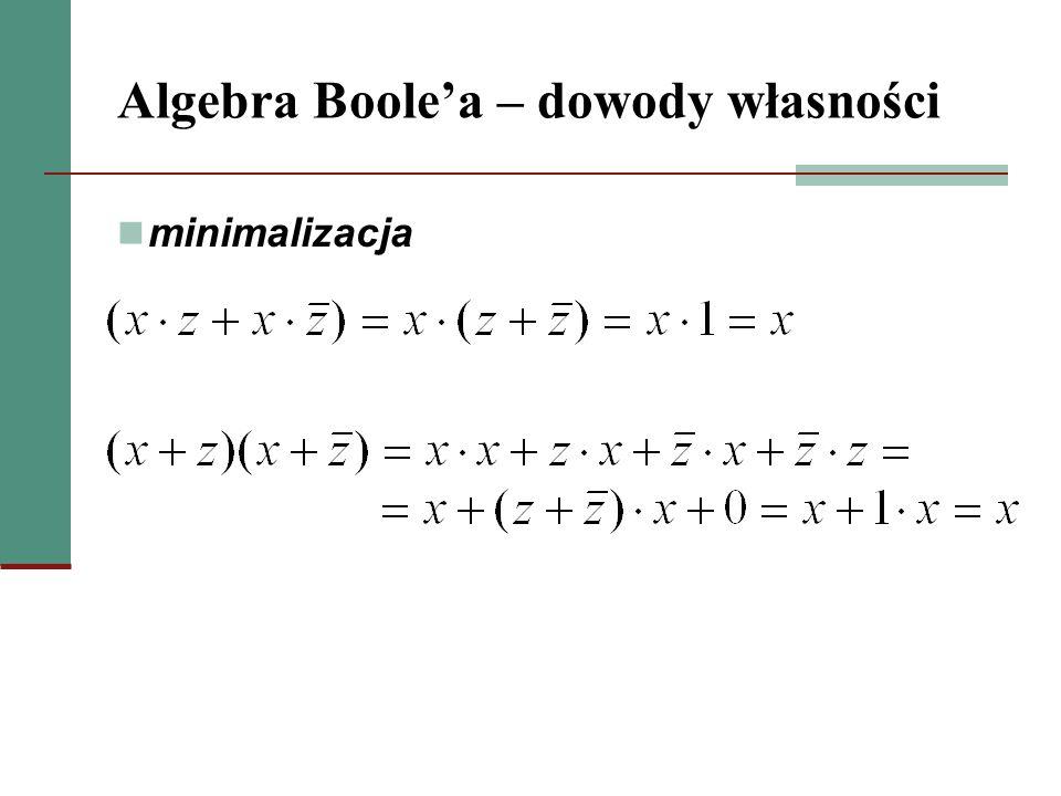 Algebra Boole'a – dowody własności
