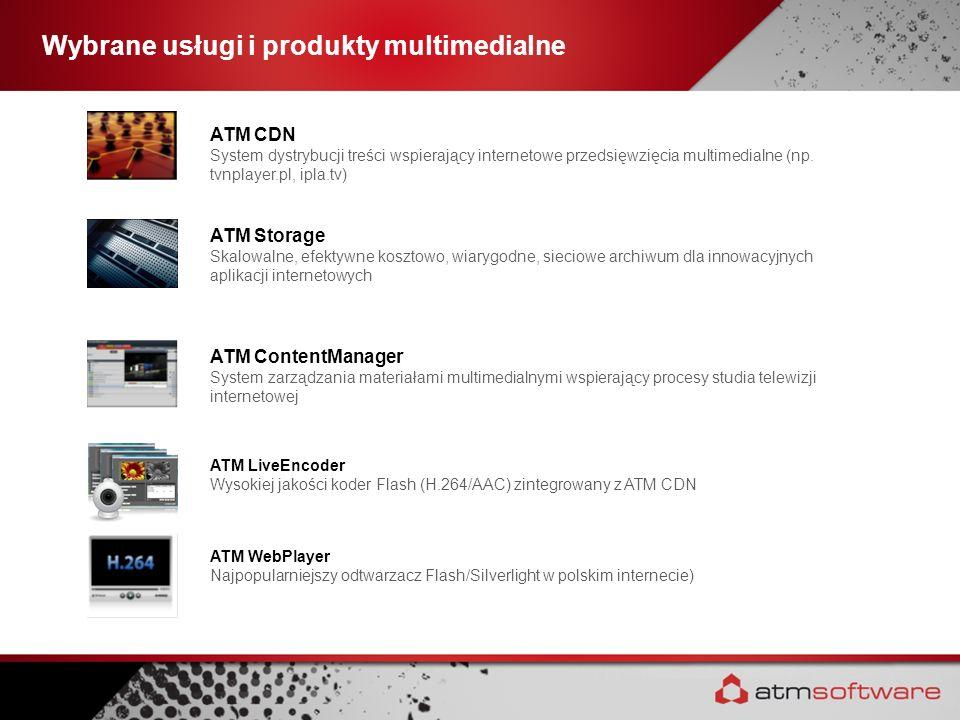Wybrane usługi i produkty multimedialne