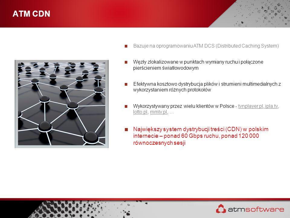 ATM CDNBazuje na oprogramowaniu ATM DCS (Distributed Caching System)