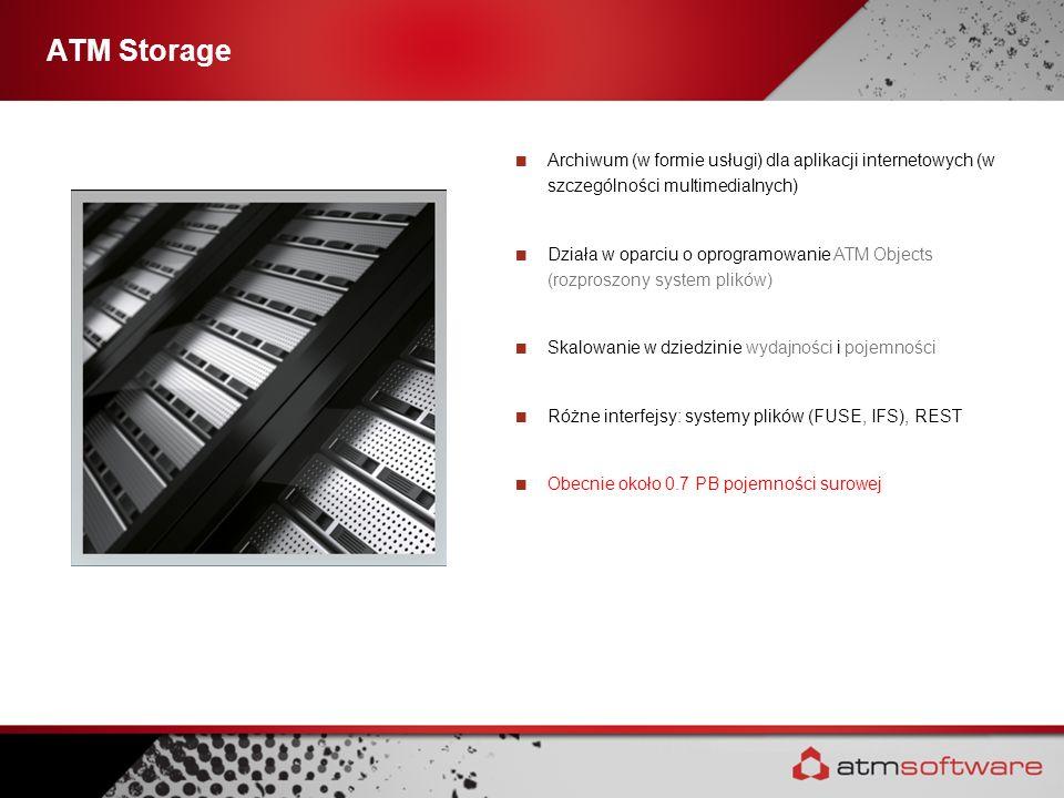 ATM StorageArchiwum (w formie usługi) dla aplikacji internetowych (w szczególności multimedialnych)